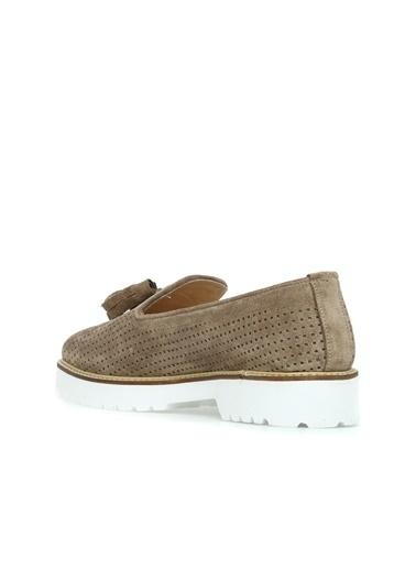 Divarese 5022909 Delikli Kadın Ayakkabı Vizon